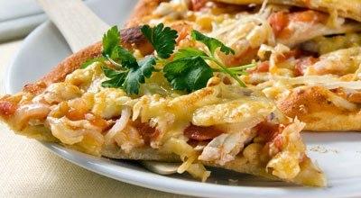 x cfa3ca62 4 пиццы: Пицца с семгой, Пицца с копчеными колбасками, Пицца с курицей и помидорами, Пицца со сладким перцем.