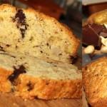 Кекс с грушей, темным шоколадом и жареным фундуком)