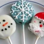 Новогодние конфеты на палочке в шоколаде с глазурью