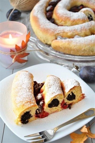 wpid Ecs6xWUkIa4 Сдобный спиральный пирог с черносливом и со сМАКом