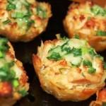 Тарталетки из картофеля с куриным филе под чесночно-сырным соусом …