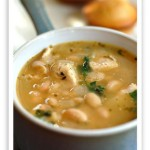 Куриный суп с бобами