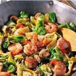Креветки с овощами по-азиатски