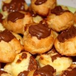 Заварные пирожные с шоколадом