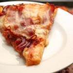 Пицца с беконом!
