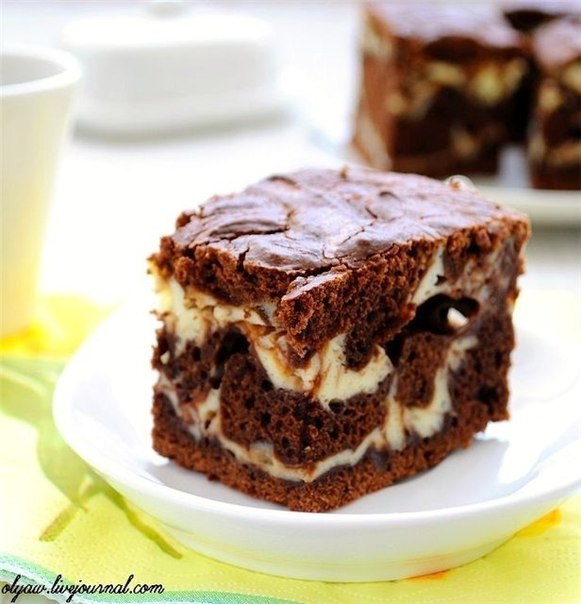 Рецепт пирога мраморный с