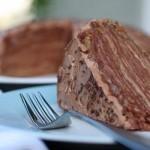 Торт из блинов с шоколадным кремом