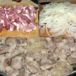 Лодочки из слоеного теста с картофелем, мясом и огурчиками…