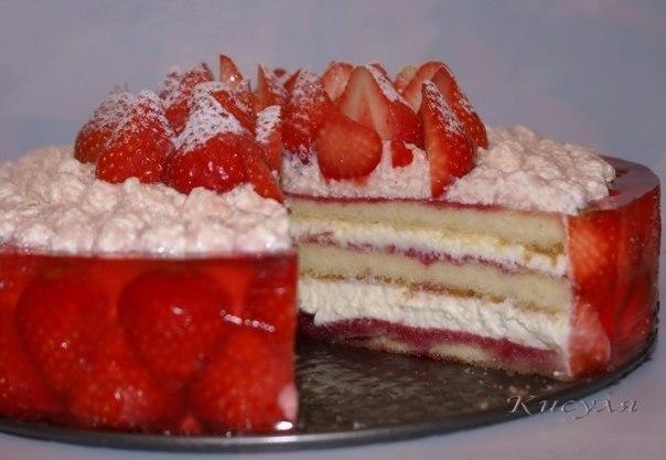 wpid S5oDGYTHhA0 Клубнично малиновый торт