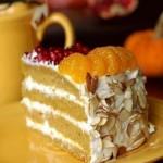 Мандариновый торт с мюслями
