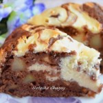Пирог с яблоками и творожной начинкой