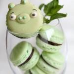 Зелёные Macarons по мотивам Angry Birds