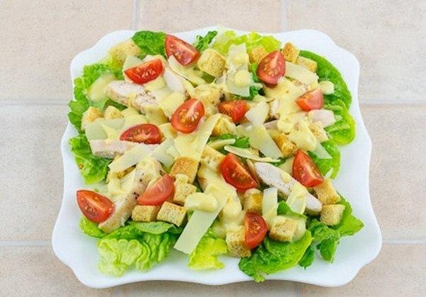 Рецепт салата цезарь с курицей пошагово с