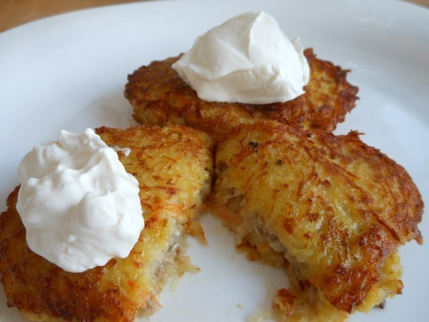 Драники из картошки с начинкой рецепт