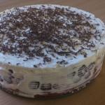 Вишневый торт с кремом из сыра маскапоне.