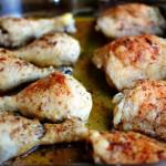 Запеченные куриные окорочка