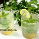 Согревающий мятный чай с имбирем и лимоном