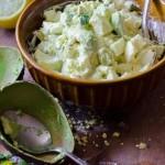 Яичный салат с авокадо