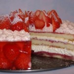 Клубнично-малиновый торт