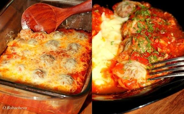 wpid 6a22dmucCTM Тефтельки из говяжьего фарша с сыром в томатном соусе