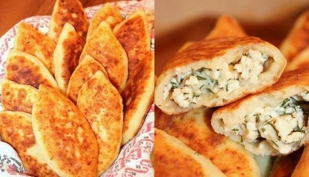 wpid zXSBjiKNfM Жареные пирожки из творожного теста с куриным фаршем, сыром и зеленью...