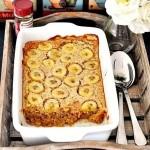 Полезный десерт: овсяная запеканка с бананами