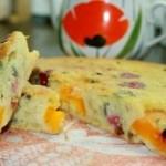 Простой пирог с фруктами