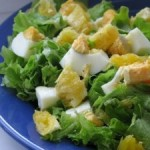 Зеленый салат с апельсином
