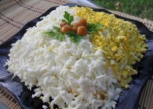 салат нежный