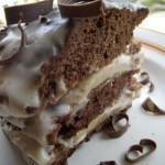 Бананово-шоколадный торт