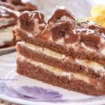 Шоколадно — банановый торт