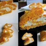 Морковно-апельсиновый рулет с творожной начинкой