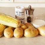 Курица с хрустящей корочкой + картофельное пюре с кукурузой