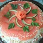 Праздничная закуска ″суши-торт″