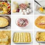 ✔  Яичные рулетики с мясной начинкой — отличный завтрак!