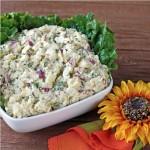 ✔    Картофельный салат с красным луком и петрушкой
