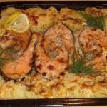 Форель с картофелем запеченная в духовке