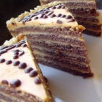 «Шоколадный торт со сливочным кремом со сгущёнкой»