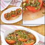 Малосольные помидоры в томатном рассоле, с зеленью