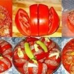 Запеченные помидоры с фаршем — вкусно и красиво