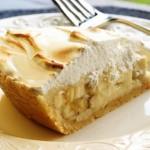 ✔ Банановый пирог с творогом и печеньем