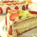 Бисквитный торт «Очарование» со сливочным кремом