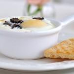 Завтрак выходного дня: яичница с грибами в духовке