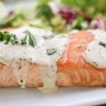 Маринованный лосось под горчично-сливочным соусом