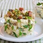 ✔  Салат из копченой скумбрии