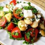 ✔  Теплый грибной салат с помидорами 50 ккал/100 гр