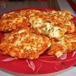 ✔  Куриные оладьи с сыром на кефире