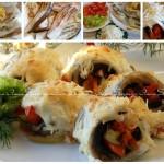 ✔  Запеченные рыбные рулетики с овощами