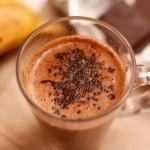 ✔    Горячий банановый коктейль с шоколадом