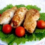 Куриные рулетики с грибамиИнгредиенты:Куриное филе – 2 шт